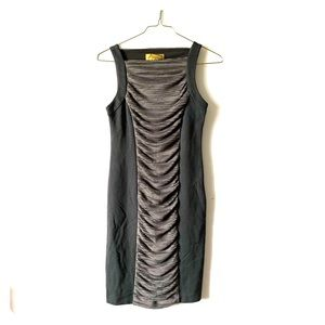 Nicole Miller sexy ruched illusion sheath dress